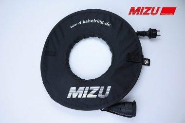 MIZU Aufrollhilfe / Kabelring inkl. 10 m Kabel in schwarz
