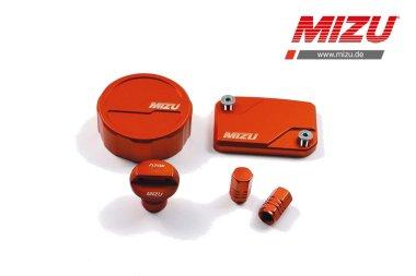 MIZU Deckelset Bremsflüssigkeitsb. Ölverschlussschr. für KTM 125 200 390 Duke RC