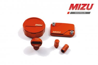 MIZU Deckelset Bremsflüssigkeitsb.,Ölverschlussschr. für KTM 125,200,390 Duke,RC