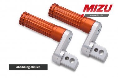 MIZU verstellbare Soziusfußraste BMW F800R/S/ST,K1200R/GT/S,K1300R/S,R1200R/S/ST