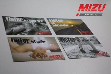 """MIZU Kartenset """"Tiefer ist geiler"""""""