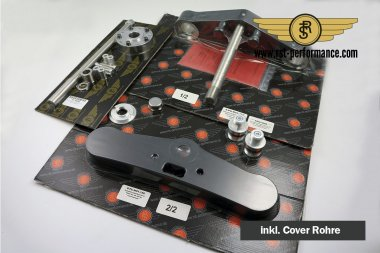 RST triple clamp FAT-GLIDE-Design  6°, for single brake disc