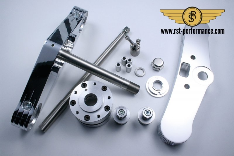 RST triple clamp FAT-GLIDE-Design  6°, for double