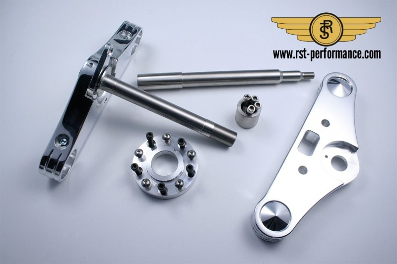 RST triple clamp SLIM-GLIDE-design  0°, for single brake disc