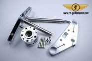 RST triple clamp FAT-GLIDE-Design  0°, for double brake disk