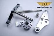 RST triple clamp NEW-STYLE-Design  0°, for double brake disk