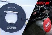 MIZU Kabelring und Propellerschutz rot/rot