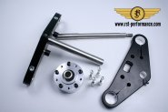 RST triple clamp SLIM-GLIDE-design  0°, for single
