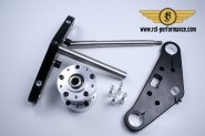 RST triple clamp SLIM-GLIDE-design  0°, for double brake disk
