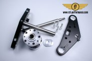 RST triple clamp SLIM-GLIDE-design  0°,for double brake disk